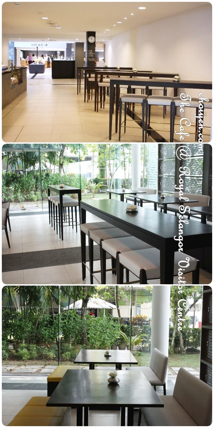 The cafe royal selangor visitor centre mimi 39 s dining room for Floor to ceiling glass panels