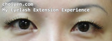 0f88e4259d0 After eyelash extension without eye makeup, quite awkward and dramatic I  would say 😛