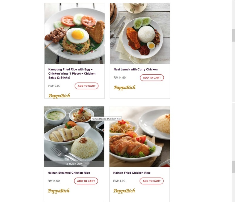 Food Delivery Website Pre Packed Meals